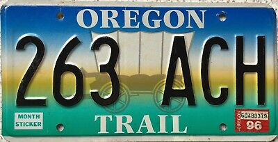 GENUINE American Oregon Trail Covered Wagon USA License Number Plate 263 ACH