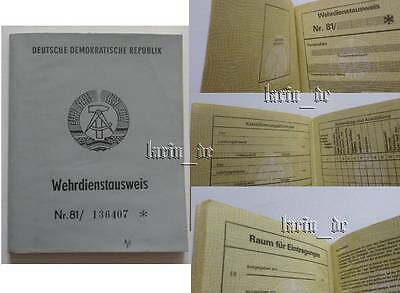 DDR 1981 NVA / Grenztruppen Armee Ausweis , East german army ID book / document
