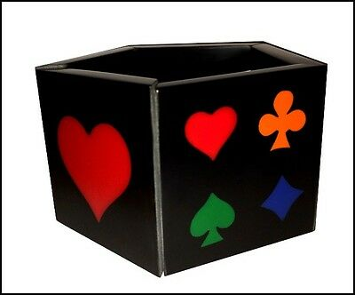 Multicolor Resin Expandable Playing Cards Bracelet -Hearts Spades Clubs Diamonds
