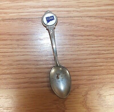 Generic/Unbranded Connecticut State Silver Toned Collectible Pewter Spoon *READ*