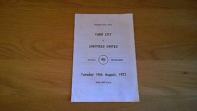 1973-74 York City v Sheffield Utd - Friendly