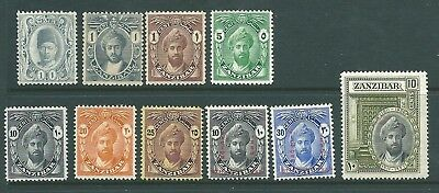 ZANZIBAR - Mint stamp collection from 1908 onwards