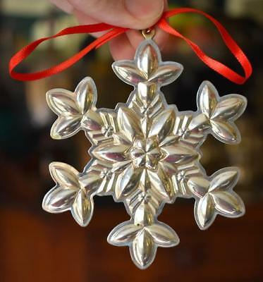 Lovely Circa 2003 Gorham 34Th Edition Sterling Silver Snowflake