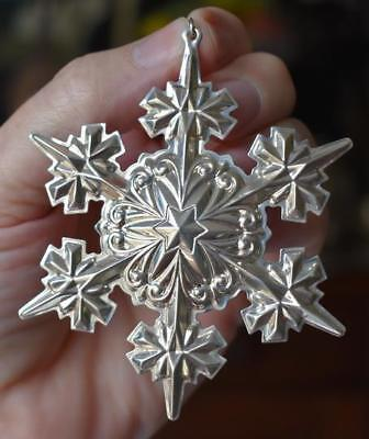 Lovely Circa 2005 Gorham 36Th Edition Sterling Silver Snowflake