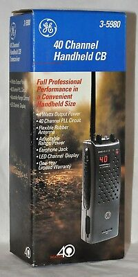 GE 40 Channel Handheld CB Radio New Never Used 3-5980 4 watts output LED Display