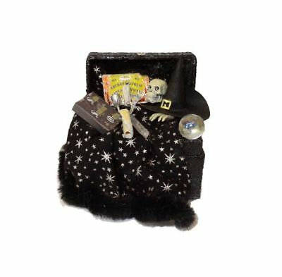 Dollhouse Halloween Magic Witch Wizard Filld Trunk Stars Haunted House Miniature