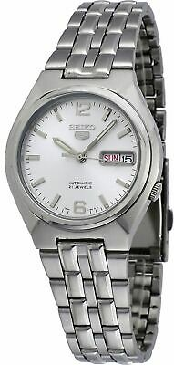 Seiko 5 SNKL59 Men's Stainless Steel Silver Dial Day Date Automatic Watch