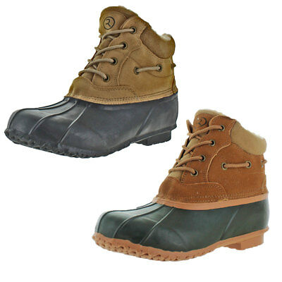 Revenant-4 Men's Duck Toe Snow Boots Winter Cold Weather Sherpa Lined Waterproof