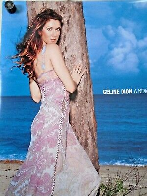 """Celine Dion / Orig. 2 sided promo Poster - A New Day / Exc. New cond./ 24 x 36"""""""