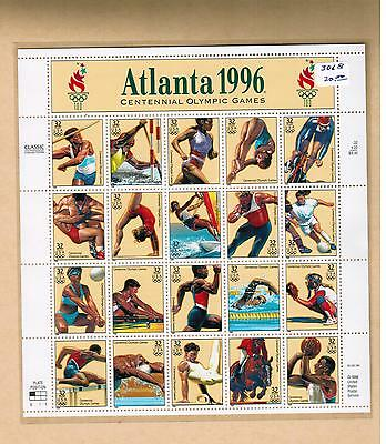 1996 # 3068 ** A2368 Vfnh  Feuillet Timbres  Usa  Sheet Stamps Atlanta Olympic