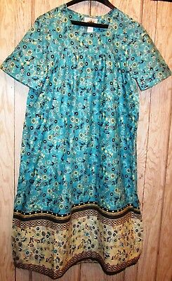 New  100% Cotton Muu-Muu Housedress  X , 2X or 3X