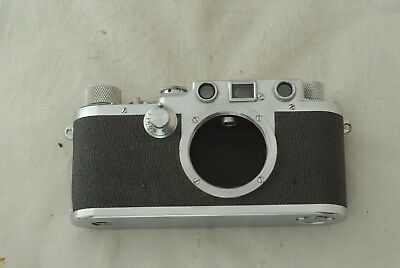 Leica IIIC Shark Skin Camera Body CLA'd in Excellent+ Condition 3C #477129