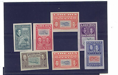 Liberia  mint NH lot of imperforate stamps under $3.00 each         KL0702