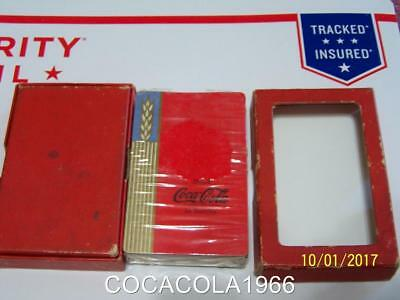 1930 's Coca Cola Playing Cards Set Deck Red Playing WHEAT Deck LTD NIB Bottles