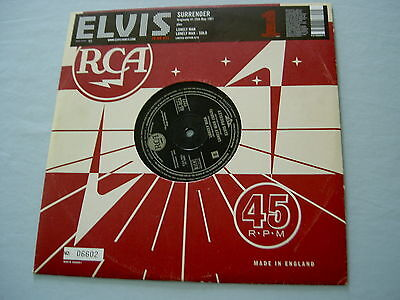 "ELVIS PRESLEY Surrender 2005 EU numbered 10"" vinyl single"