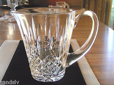 Waterford Crystal Pitcher Water Beer Hand Cut Flat Bottom Never Used Orig Owner