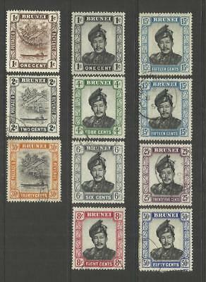 Brunei ~ 1908-1952 Small Used Collection
