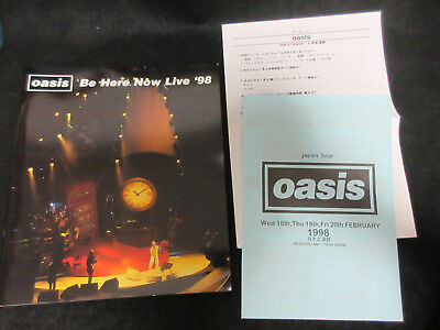 Oasis Be Here Now Live 1998 Japan Tour Book w Flyer Noel Liam Gallagher You Am I