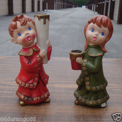 Vintage Christmas Decoration Carollers Candle Holders