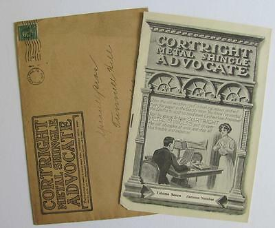 1911 VINTAGE ARCHITECTURE CORTRIGHT METAL SHINGLE ROOF CO Chicago & Philadelphia