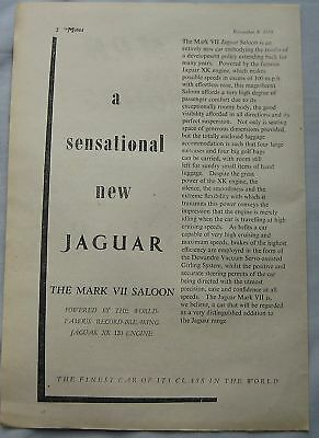 1950 Jaguar Mark VII saloon Original advert No.1