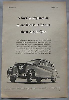 1950 Austin Original advert No.4