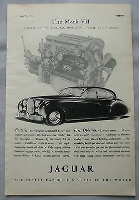 1951 Jaguar Mark VII Original advert No.2