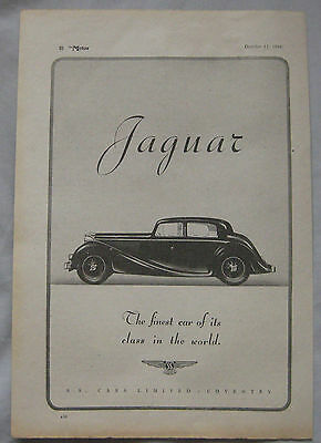 1944 Jaguar Original advert No.1