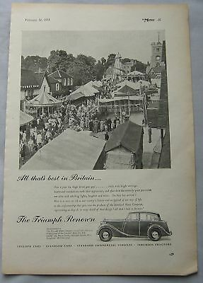1951 Triumph Renown Original advert No.1