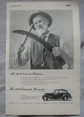 1951 Triumph Renown Original advert No.3