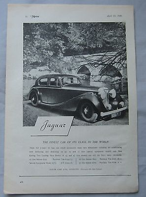 1946 Jaguar Original advert No.4