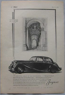 1950 Jaguar Mark V Original advert No.1