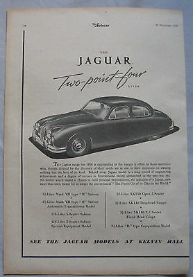 1955 Jaguar Original advert No.3