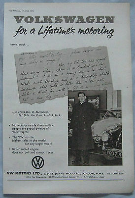 1959 VW Beetle Original advert