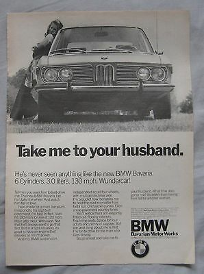 1971 BMW Bavaria Original advert