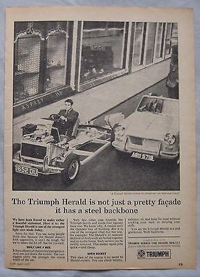 1966 Triumph Herald Original advert No.1