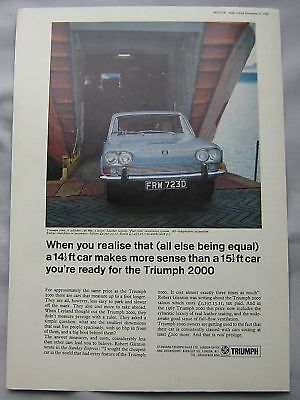 1966 Triumph 2000 Original advert No.2
