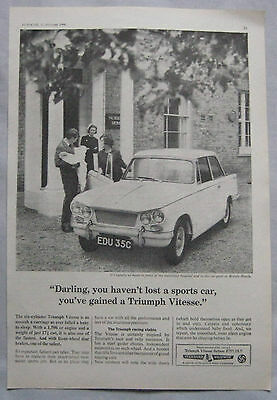 1966 Triumph Vitesse Original advert No.1
