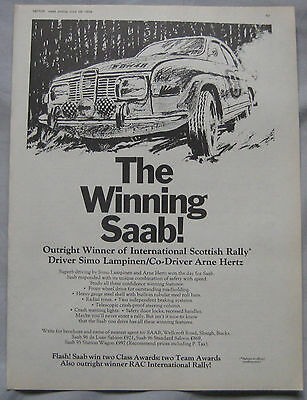 1969 Saab Original advert