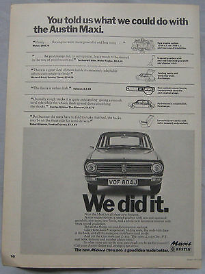 1971 Austin Maxi Original advert No.2