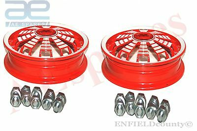 Pair Aluminium Made Red Color Wheel Rim For Vespa 2.10.10Px Pk Rally @cad