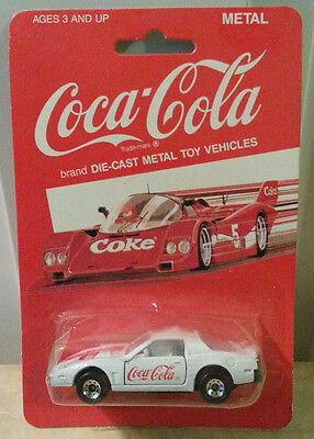 Coca-Cola Coke Die Cast Metal White Car #2 NEW (1988 Hartoy)(DN)