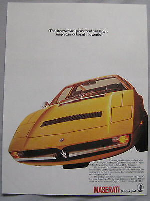 Maserati Bora Original advert