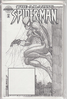 Amazing Spider-Man 1 (442) Authentix Sketch Edition Dynamic Forces