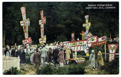Indian Totem Poles, Alert, British Columbia Post Card