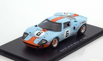 1:43 Spark Ford GT40 Winner 24h Le Mans Ickx/Oliver 1969 Gulf