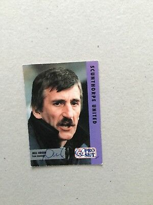 BILL GREEN ( Scunthorpe United ) Signed Card.