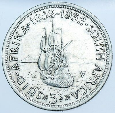 South Africa, George Vi 5 Shilling (Crown), 1952 Silver Coin Ef