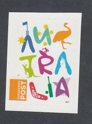 AUSTRALIA 2017 - NEW CONCESSION STAMP $1 P&S Self adhesive MNH -