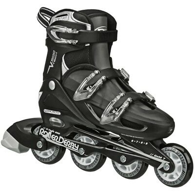 Roller Derby V-tech 500 Boys/Girls Adjustable Inline Skate Black US6-US9